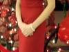 Red Silk Noil Dress 2009