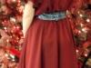Back of Silk Chiffon Dress
