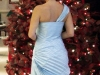 Ice Blue Gown Back View
