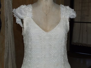 Close-up of neckline and sleeve.