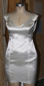 Front View of the silk sheath