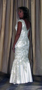 Back View of gown