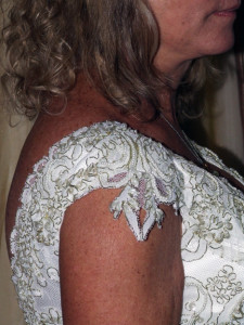 close-up of sleeve detail