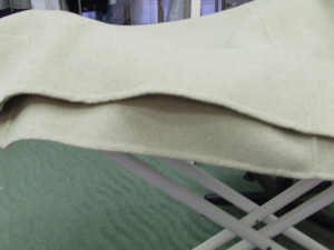 Here is the finished hem compared to the original.